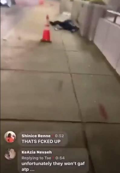 Une vidéo Facebook a montré un homme marchant vers Dorn alors qu'il était en train de mourir. L'homme pourrait être entendu le suppliant de rester en vie alors qu'il gisait dans une mare de sang Le capitaine de la police à la retraite de St Louis, 77 ans, est abattu `` protégeant le prêteur sur gages de son ami contre les pillards lors de tueries qui a été diffusé en direct sur Facebook '' David Dorn