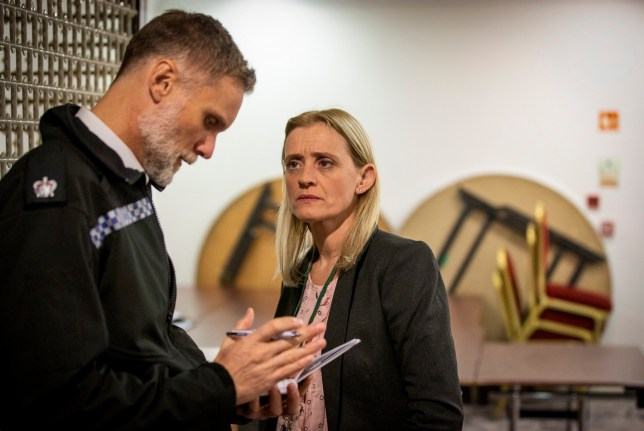 WARNING: Embargoed for publication until 00:00:01 on 09/06/2020 - Programme Name: The Salisbury Poisonings - TX: n/a - Episode: n/a (No. 2) - Picture Shows: DS Dave Minty (DARREN BOYD), Tracy Daszkiewicz (ANNE-MARIE DUFF) - (C) Dancing Ledge Productions - Photographer: Huw John