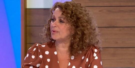 Mandatory Credit: Photo by ITV/REX (10670583i) Nadia Sawalha 'Loose Women' TV show, London, UK - 05 Jun 2020