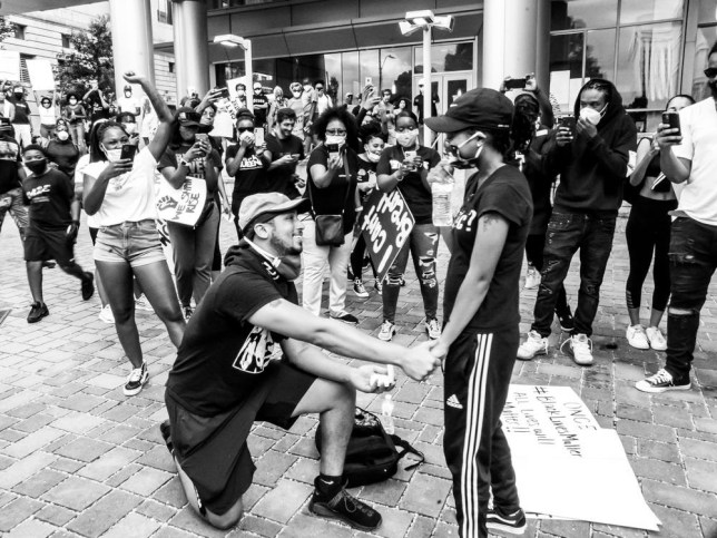 A couple got engaged at a Black Lives Matter protest - and it was beautiful