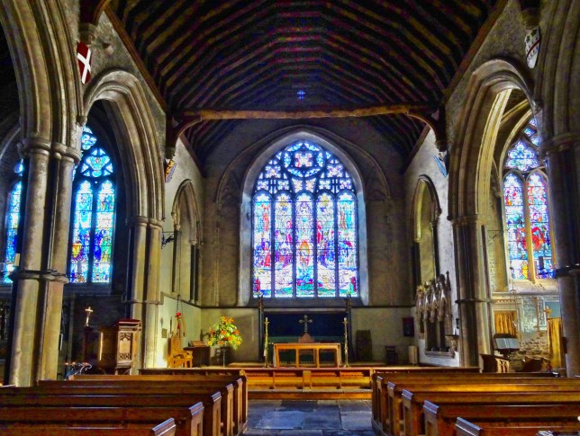 The famous church of St Thomas the Martyr at Winchelsea is renowned for its wonderful stained glass windows. The graveyard is also the last resting place of the comedian Spike Milligan.