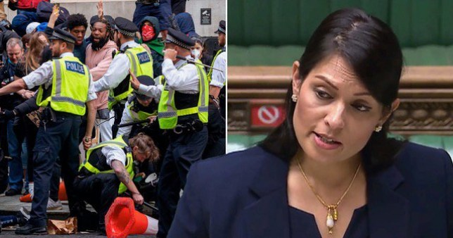 Priti Patel to double sentence for protesters who assault emergency workers