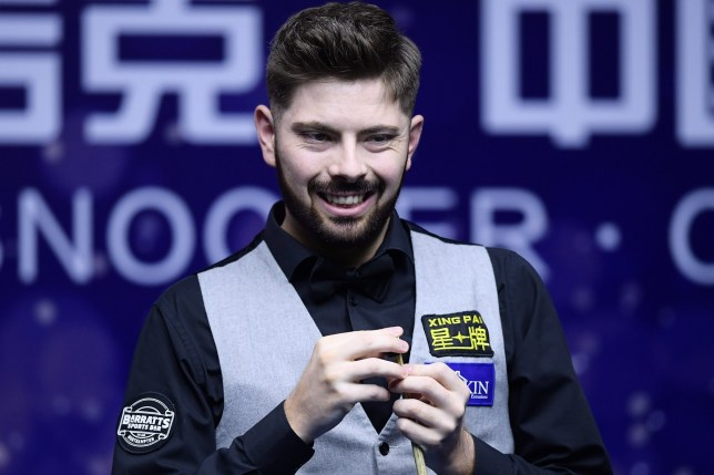 Mandatory Credit: Photo by REX (10184509x) Harvey Chandler 2019 China Open, Snooker, Beijing, China - 01 Apr 2019 Mark Williams defeated Harvey Chandler 6-4.