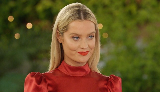 Editorial Use Only. No Merchandising. No Commercial Use. Mandatory Credit: Photo by ITV/REX/Shutterstock (10539605d) Laura Whitmore speaks to the Islanders 'Love Island' TV show, Series 6, Episode 15, South Africa - 26 Jan 2020 Highlights include: SI?NNISE AND REBECCA CLASH OVER LUKE T SHAUGHNA AND CALLUM GO ON THEIR FIRST DATE JESS AND LUKE M KISS LAURA WHITMORE ARRIVES IN THE VILLA WITH SHOCK NEWS
