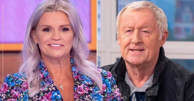 Kerry Katona pictured separately alongside Chris Tarrant