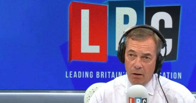 LBC radio host Nigel Farage