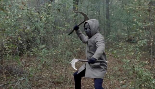 The Walking Dead masked man