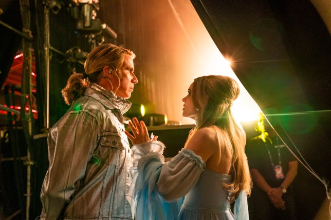 Will Ferrell as Lars Erickssong and Rachel McAdams as Sigrit Ericksdottir