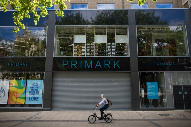 Stock image of a closed Primark store
