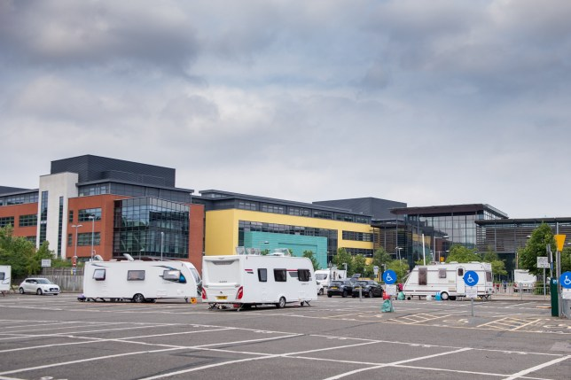 Travellers take over Covid-19 test site in Watford
