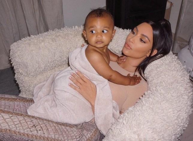 Kim Kardashian and Psalm West