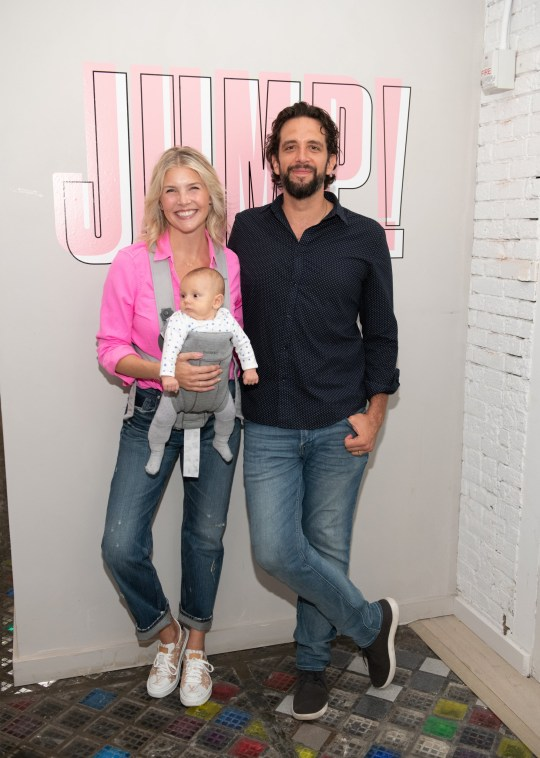 NEW YORK, NEW YORK - AUGUST 27: Amanda Kloots and Nick Cordero attend the Beyond Yoga x Amanda Kloots Collaboration Launch Event on August 27, 2019 in New York City. (Photo by Noam Galai/Getty Images for Beyond Yoga)