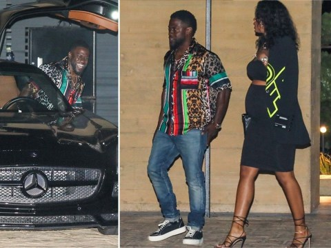 Kevin Hart and pregnant wife Eniko Parrish leave Nobu as LA lockdown restrictions eased