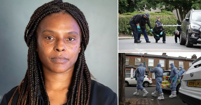 Lillian Serunkuma at New Scotland Yard, London, during an appeal for witnesses to the shooting of her grandson, the two-year-old boy in Energen Close, Harlesden, north west London, on June 3. The child was injured alongside his mother, aged in her late 20s, and two men after they were approached by a lone gunman. PA Photo. Picture date: Monday June 15, 2020. Ms Serunkuma's son, Qumari Serunkuma-Barnes was stabbed to death when he was 15 in 2017. See PA story POLICE Harlesden. Photo credit should read: Victoria Jones/PA Wire