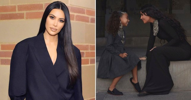 Kim Kardashian pictured separately alongside picture of her and daughter North in Armenia