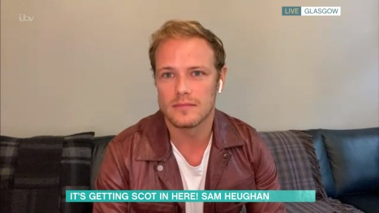 Mandatory Credit: Photo by ITV/REX (10681230u) Sam Heughan 'This Morning' TV show, London, UK - 16 Jun 2020