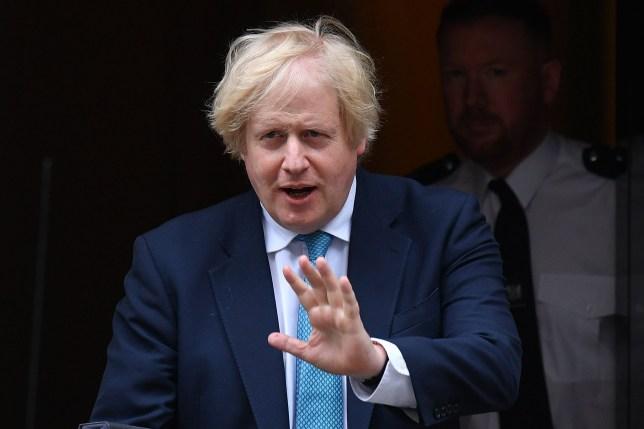 Britain's Prime Minister Boris Johnson leaves 10 Downing Street in central London on June 16, 2020