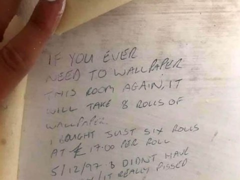 Woman strips wallpaper and finds advice from 1997 hidden underneath