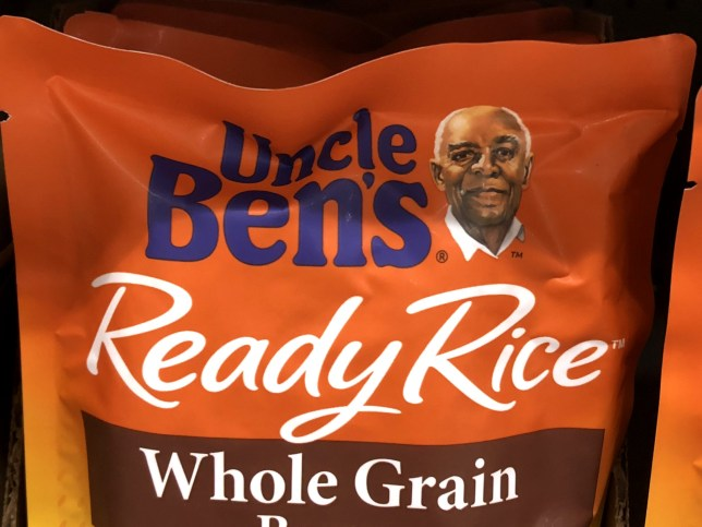 A packet of Uncle Ben's rice