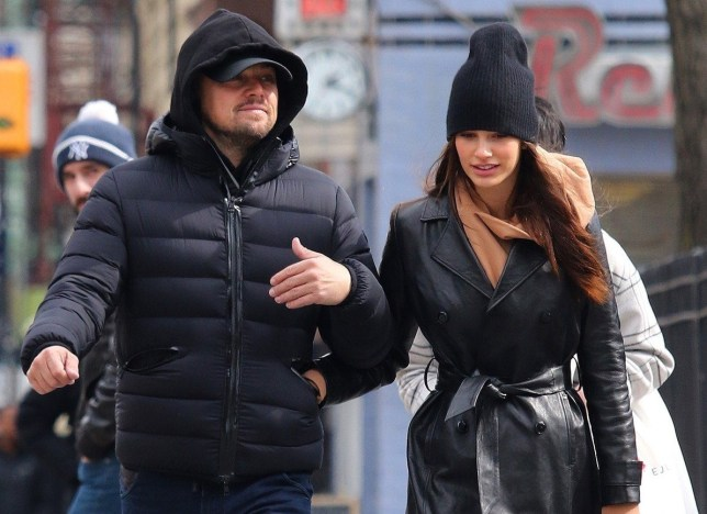BGUK_1886868 - New York, NY - Leonardo DiCaprio and Camila Morrone are all smiles as they spend a romantic afternoon in Manhattan's Downtown area. The hot couple were all bundled up for the chilly weather as they went to see art galleries and later had a bite to eat at a Downtown pastry deli. Pictured: Leonardo DiCaprio, Camila Morrone BACKGRID UK 29 FEBRUARY 2020 BYLINE MUST READ: BrosNYC / BACKGRID UK: +44 208 344 2007 / uksales@backgrid.com USA: +1 310 798 9111 / usasales@backgrid.com *UK Clients - Pictures Containing Children Please Pixelate Face Prior To Publication*