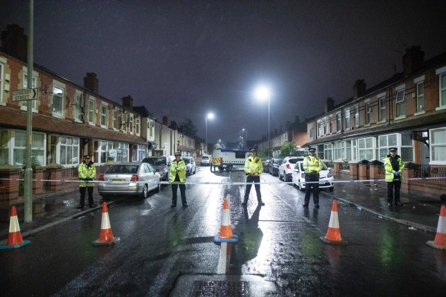 ? Licensed to London News Pictures. 21/06/2020. Manchester, UK. Police respond amid reports of a shooting at a street party in Moss Side in South Manchester in the early hours of this morning (Sunday 21st June 2020). Photo credit: Joel Goodman/LNP