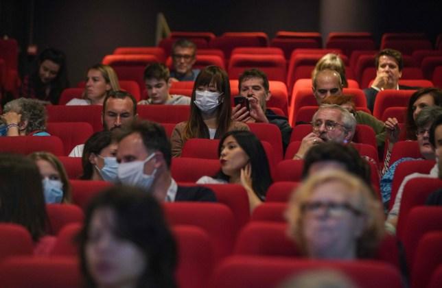 Inside of a cinema