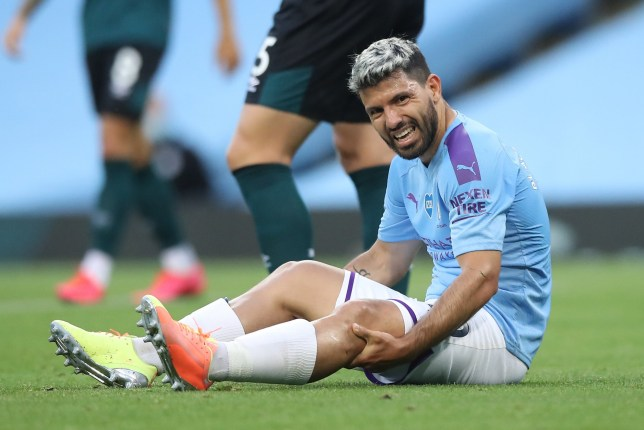 Sergio Aguero is set to miss the rest of Manchester City's Premier league campaign
