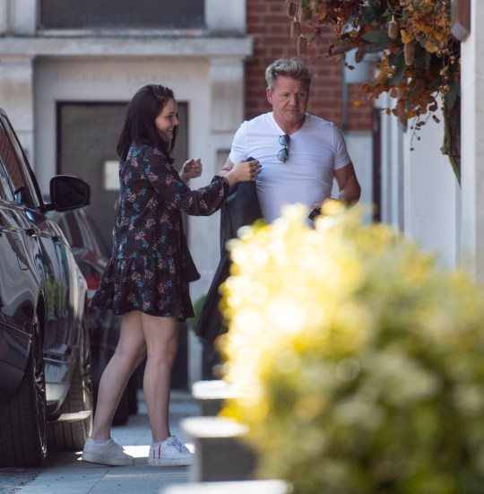 gordon ramsay arrives in London
