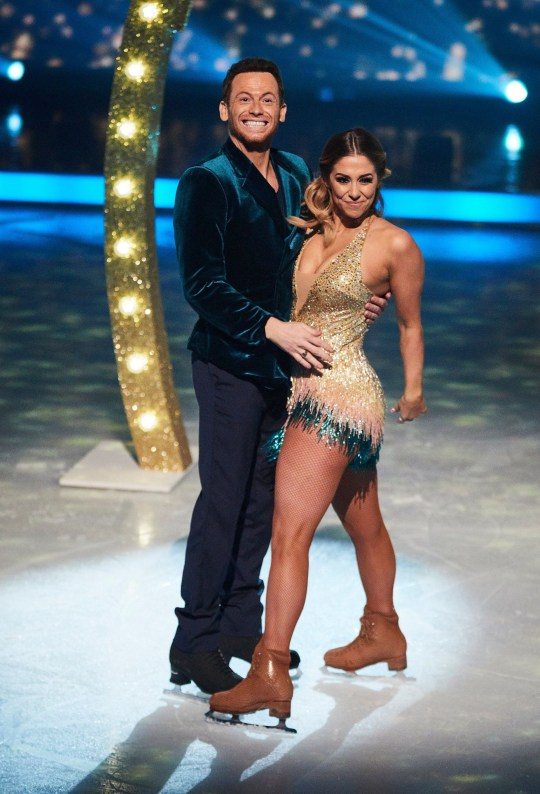 Editorial use only Mandatory Credit: Photo by Matt Frost/ITV/REX/Shutterstock (10574782m) Opener - Finalists Joe Swash and Alex Murphy 'Dancing On Ice' TV show, Series 12, Episode 10, Hertfordshire, UK - 08 Mar 2020
