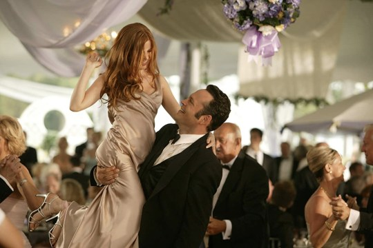 Vince Vaughn and Isla Fisher in Wedding Crashers
