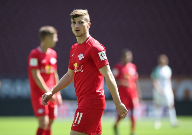 Timo Werner scored twice in his final appearance for RB Leipzig before his move to Chelsea