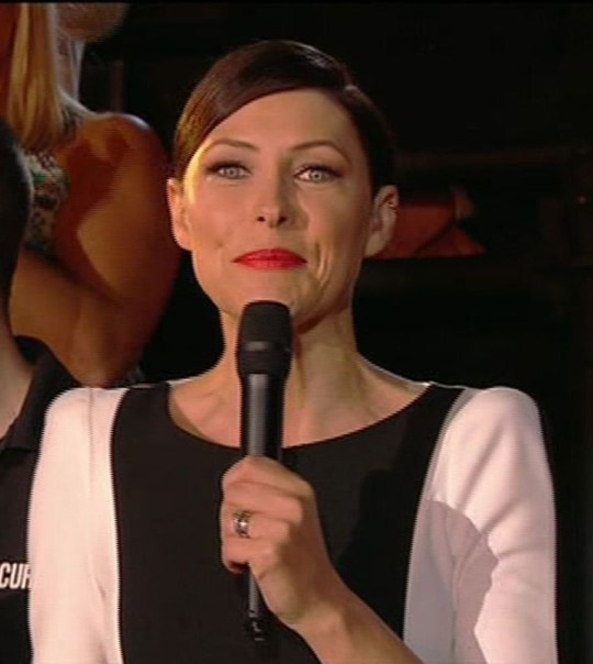 Editorial use only Mandatory Credit: Photo by REX (2910241aj) Emma Willis 'Celebrity Big Brother', Elstree Studios, Hertfordshire, Britain - 27 Aug 2013