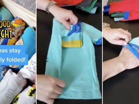 Mum folds pyjamas into pairs in seconds with simple hack