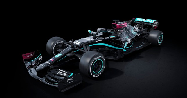 Lewis Hamilton sends anti-racism message to F1 chiefs as Mercedes unveil all black car
