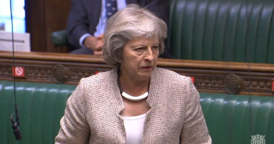 Former prime minister Theresa May