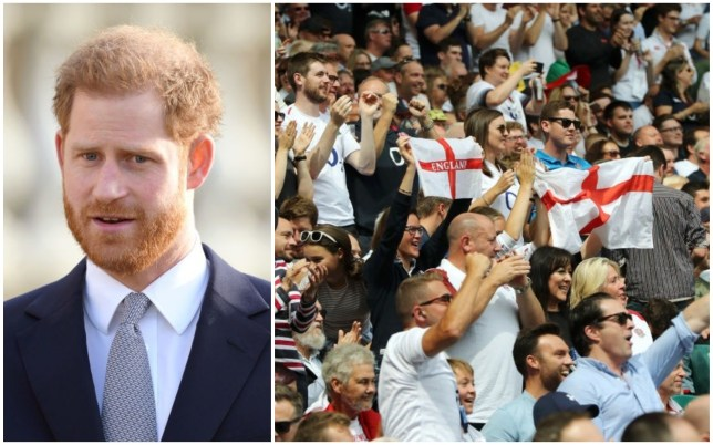 Prince Harry is backing the RFU's review of the song widely sung by England fans