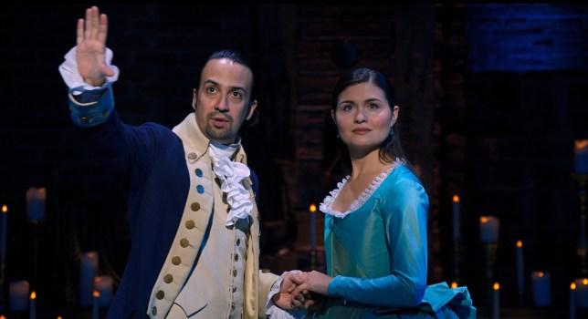 Lin-Manuel and Phillippa Soo in Hamilton