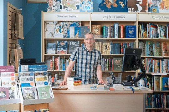 Andy Rossiter at his shop in Ross-on-Wye in Herefordshire recently re-opened his small chain of book shops