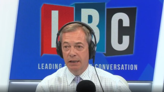 Nigel Farage on LBC radio