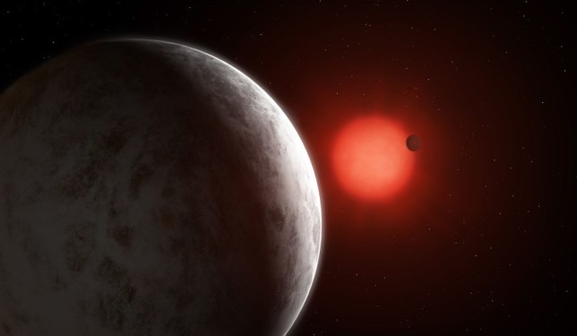Artist's impression of the multiplanetary system of newly discovered super-Earths (PA)