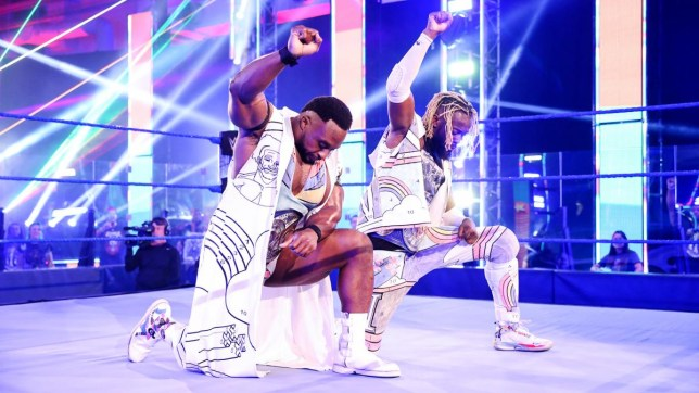 The New Day WWE superstars - Big E and Kofi Kingston