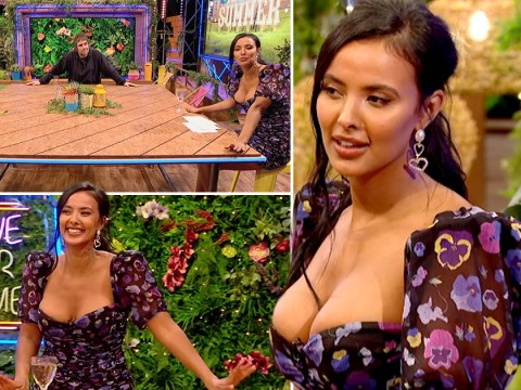 Maya Jama hits back at critic of 'revealing' outfit on Peter Crouch's Save Our Summer: 'If you're uncomfortable with my boobs, that's on you'