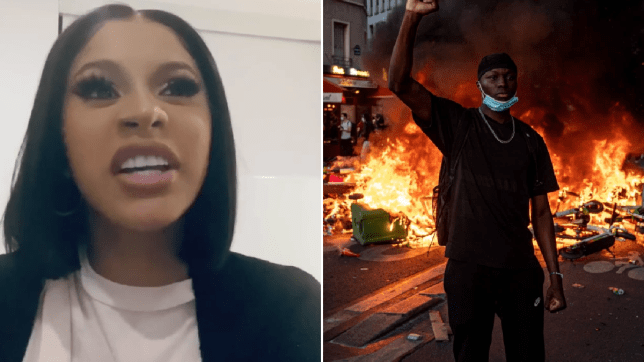 Cardi B slams reporter over protest comments