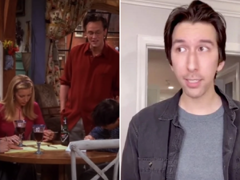 Friends look-a-likes recreate iconic Thanksgiving scene for TikTok video: Remember Chandler and his 'dumb states game'?