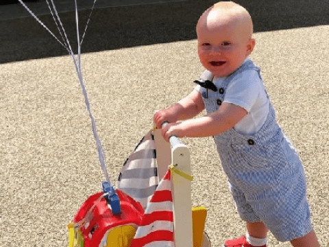 Toddler is walking 100 lengths of his driveway for the NHS