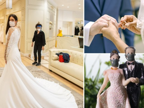 Post-lockdown wedding rules say couples must wash their hands to exchange rings