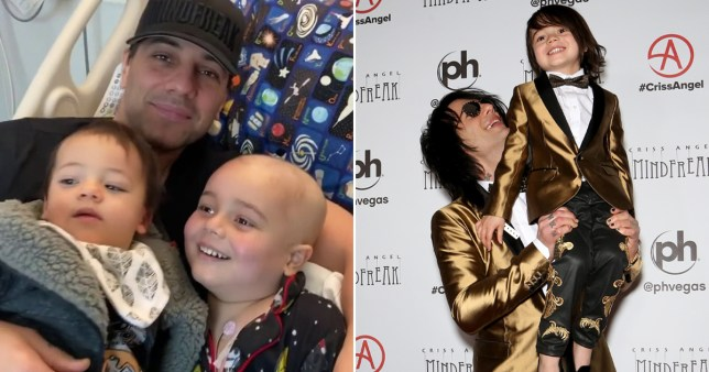 Criss Angel son cancer Johnny Crisstopher