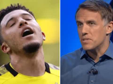 Jadon Sancho should be 'patient' and postpone Manchester United transfer, says Phil Neville