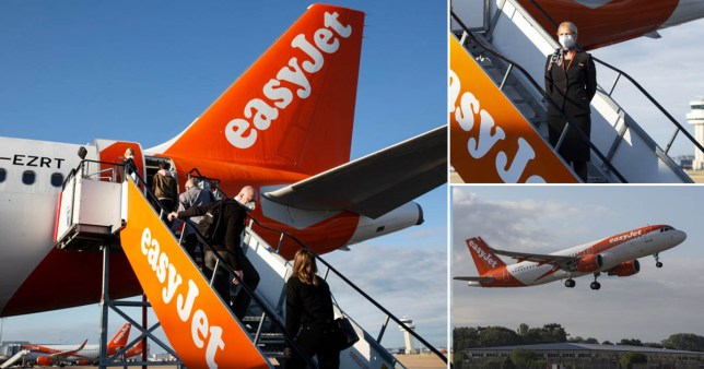 The first Easyjet flight took off from Gatwick at 7am to land in Glasgow at 8.30am
