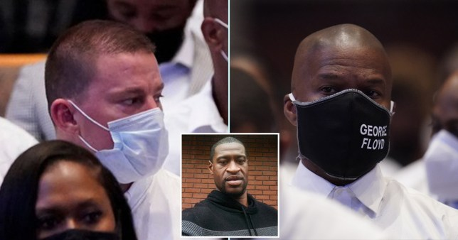 Channing Tatum and Jamie Foxx sat in congregation at George Floyd memorial service